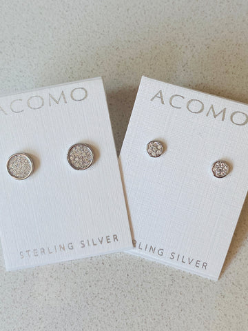 Sterling Silver Round Post Earrings