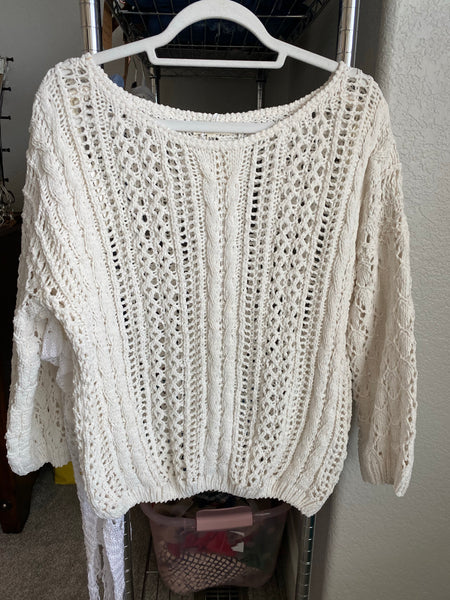 Cable Ivory Sweater