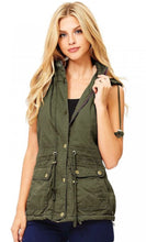 "Load image into Gallery viewer, Classic ""Black""  Parka Vest - Small Only"
