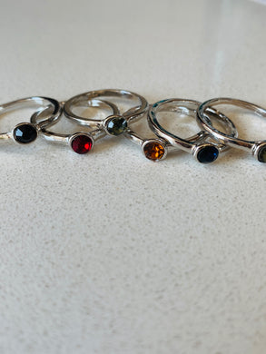 Gemstone Stacker Rings