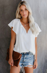 Flutter arm blouse