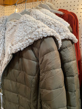 Load image into Gallery viewer, Olive Sherpa Lined Puffer Jacket - One Small Only