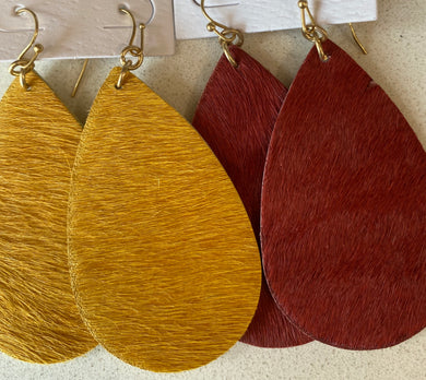 Animal fur textured teardrops
