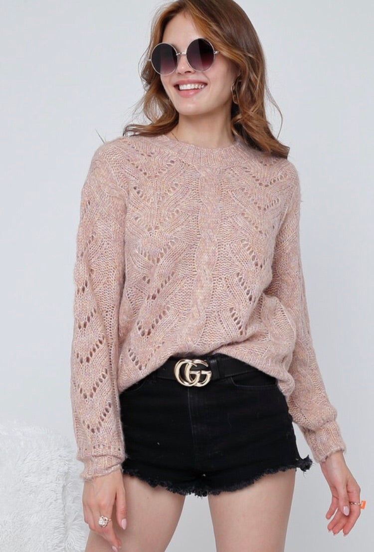 Puff Sleeve Sweater Knit top