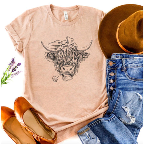 Highland Cow Graphic Tee