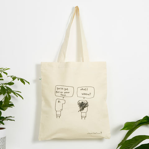 Pen On Face Bag