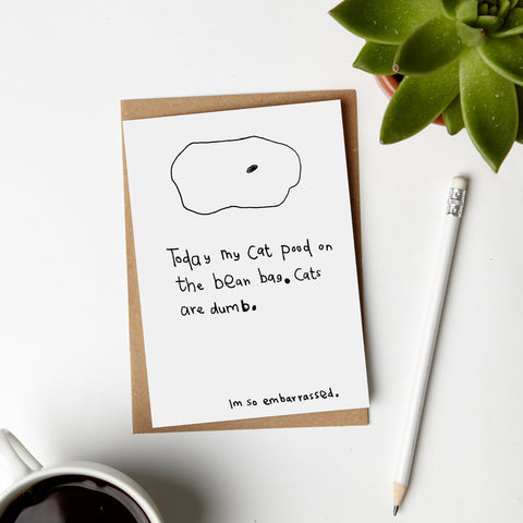 Cat Poo Card