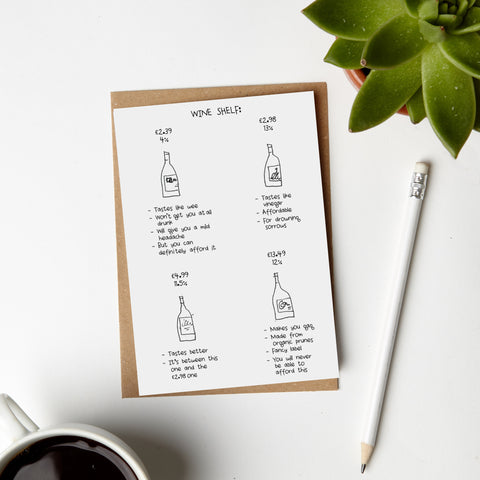 Wine Rack Card