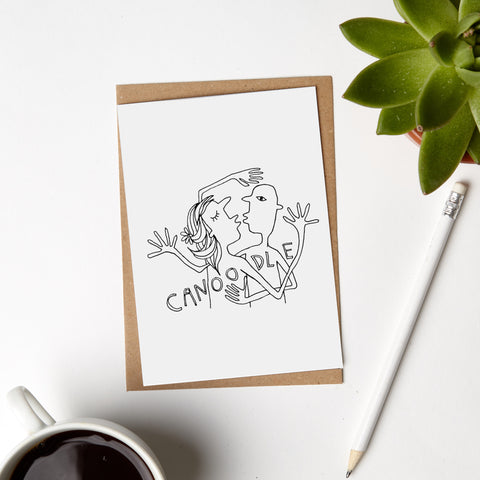 Canoodle Lovers Card