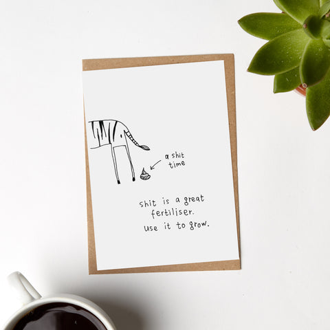 Zebra Shit Time Card