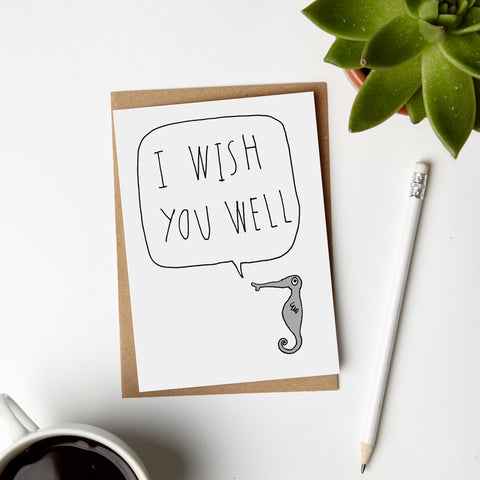 Wish You Well Seahorse Card
