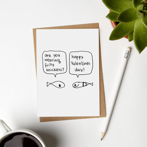 Valentines Day Fish Card