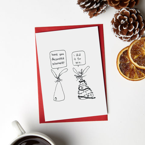 Xmas Decorated Yourself Card