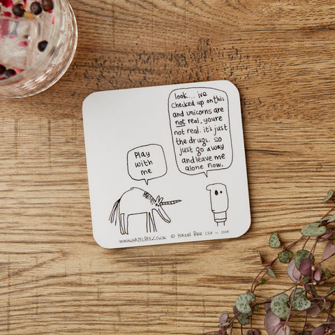 Unicorn Drugs Coaster