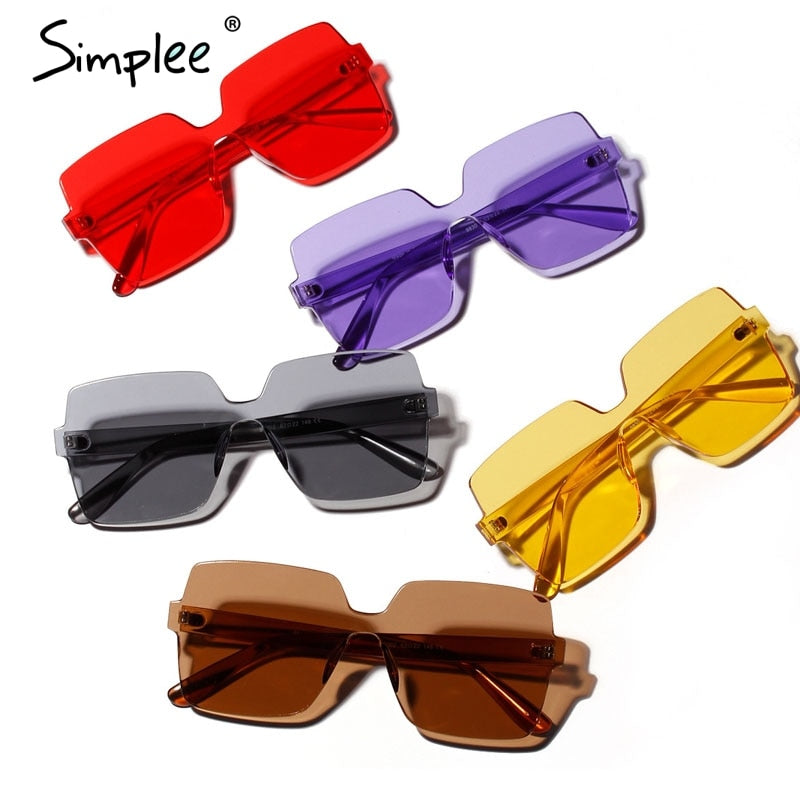 Luxury brand square sunglasses