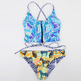 Women's Tube Top Print Swimsuit