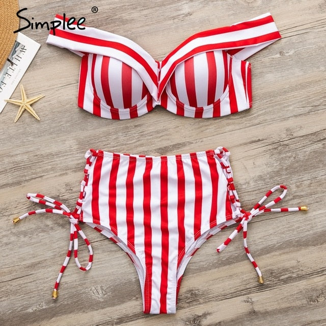 Simplee Sexy striped bikinis