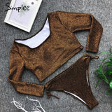 Sexy two-pieces long sleeve bodysuit