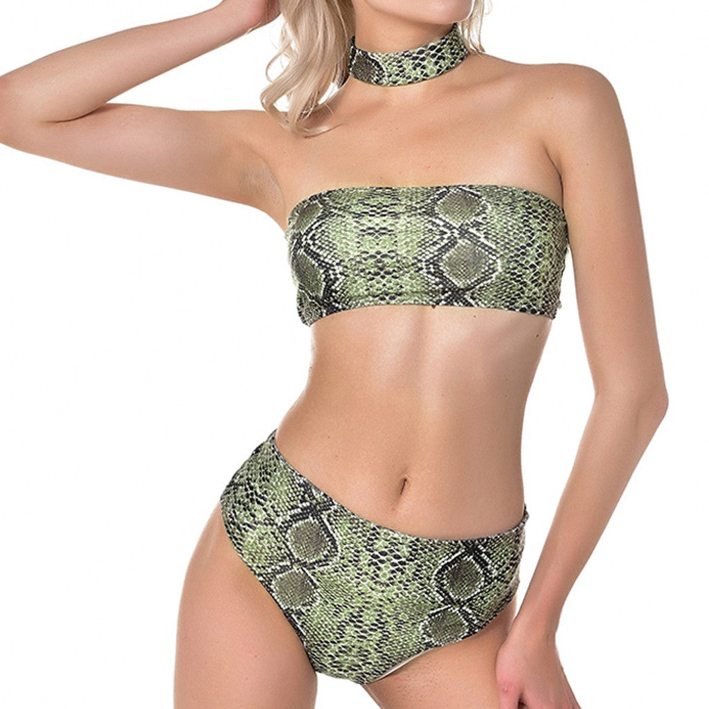 Bikini Strapless High Waist Swimsuit