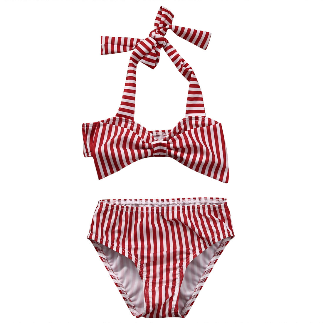 Red White Strip Baby Bikini