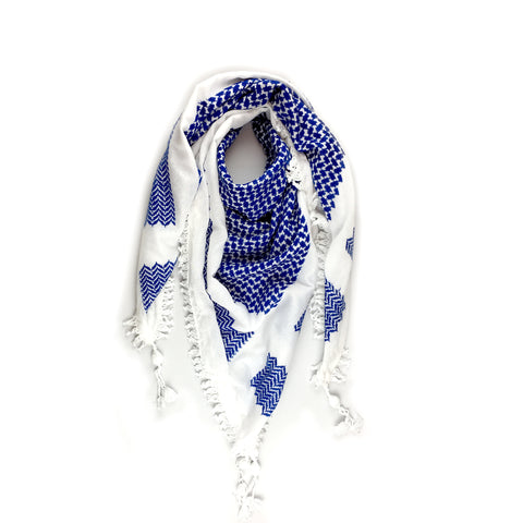 Blue and White Kufiya