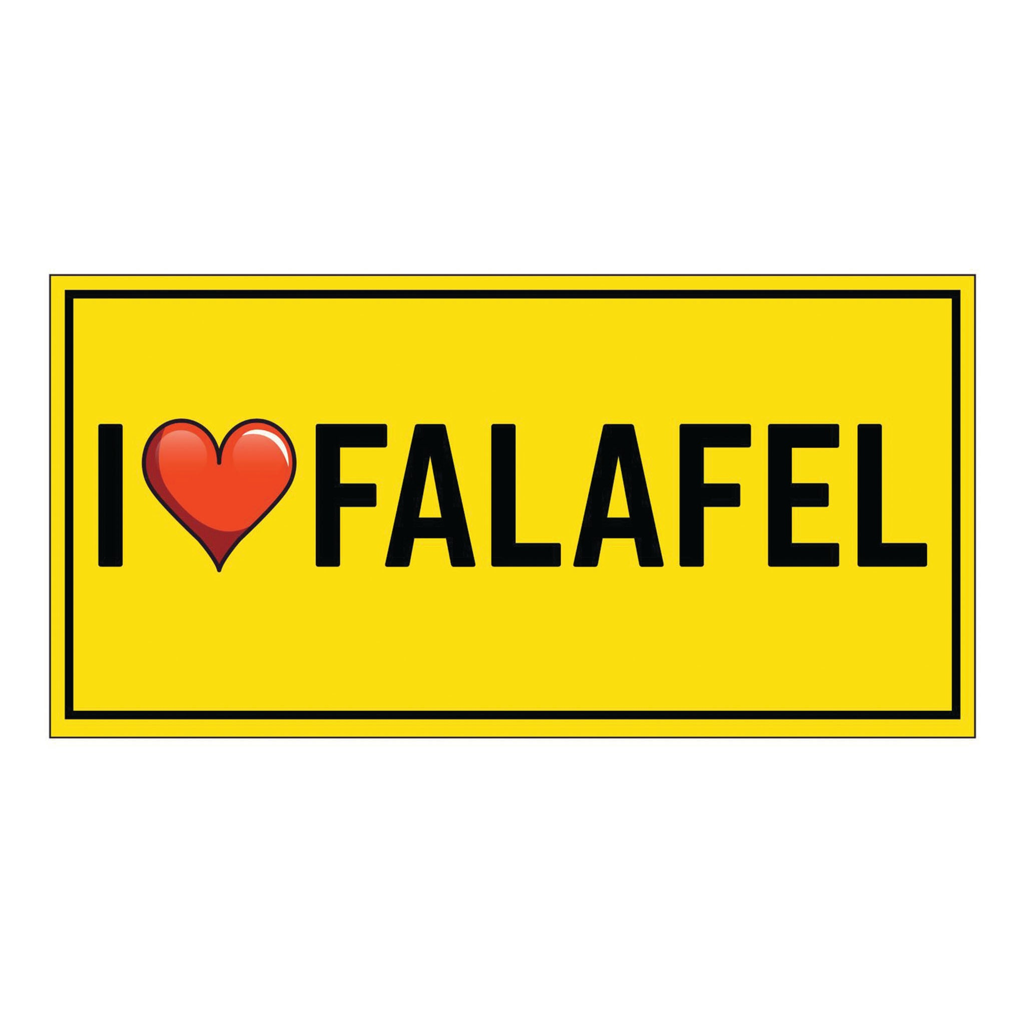Bumper Sticker I Love Falafel