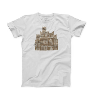 Sanaa Old town illustration on White T-Shirt