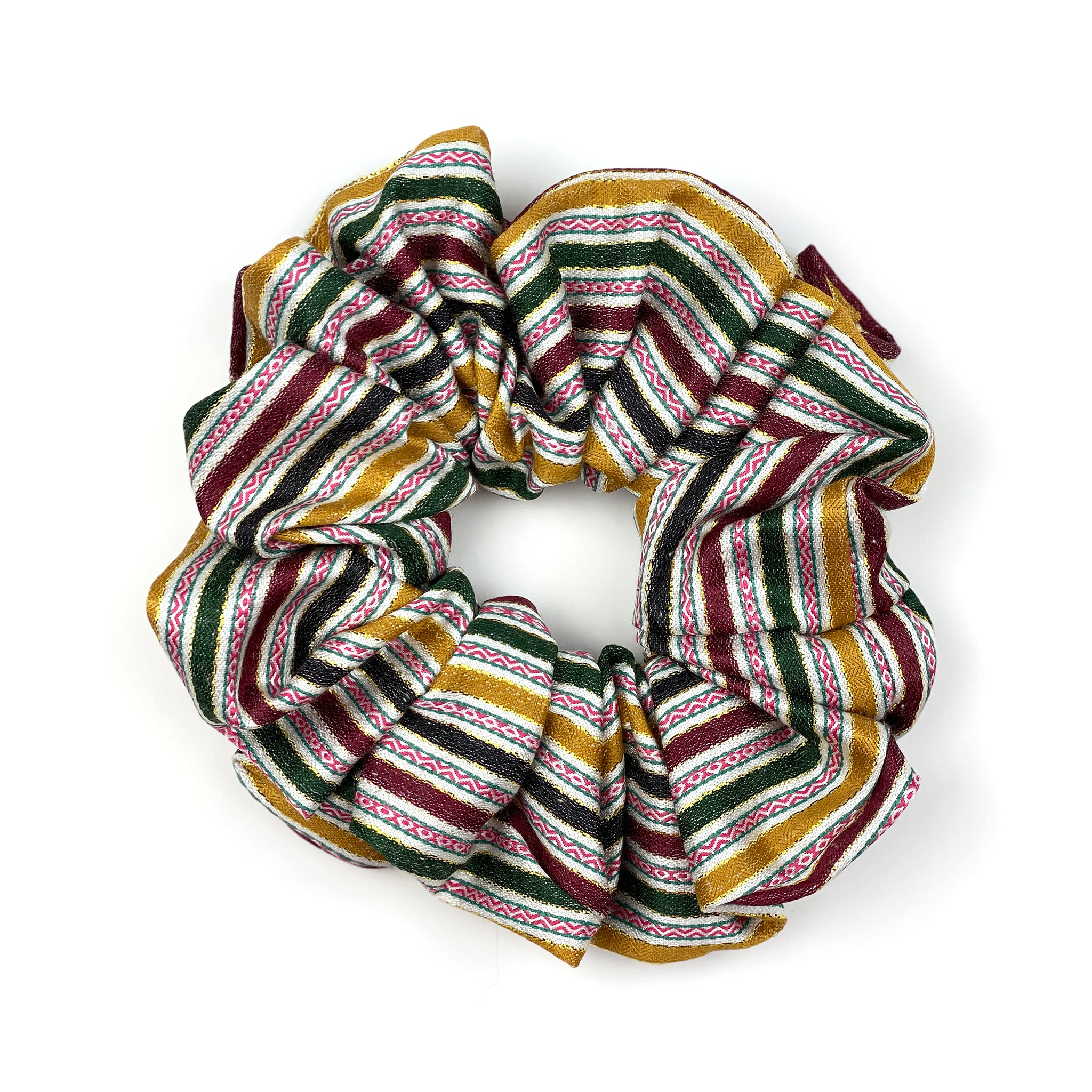 oriental pattern scrunchie