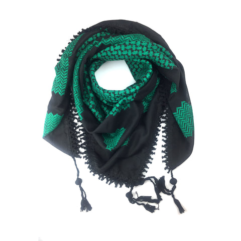 Green and Black kufia