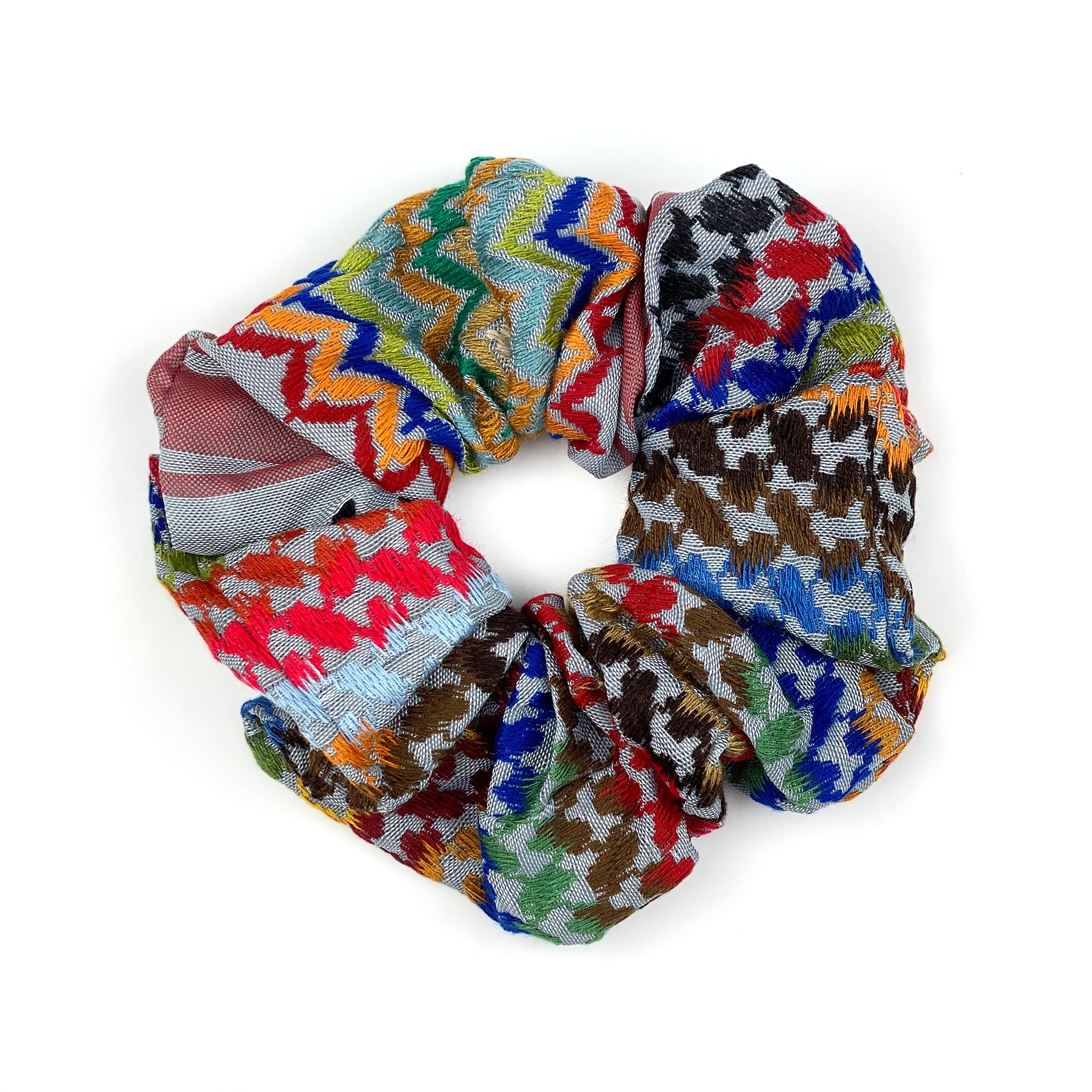 Keffiyeh scrunchie colored