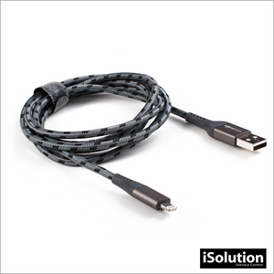 BOOMPODS ARMOUR CABLE LIGHTNING 1.5M - GRIS