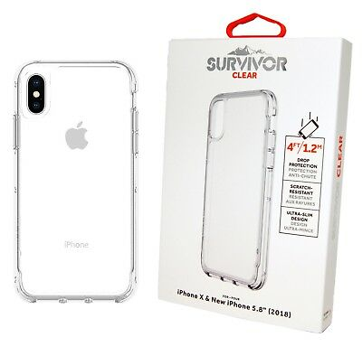 Griffin Survivor Case iPhone XS Clear-Clear