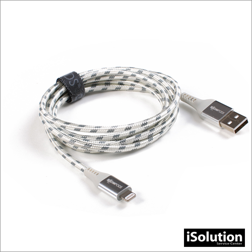 BOOMPODS ARMOUR CABLE LIGHTNING 1.5M - PLATA