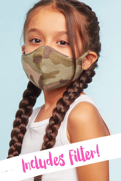 Kids Masks (*5 Colorways & Patterns)