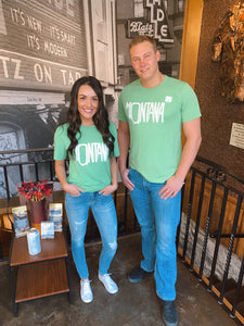 His & Hers Kelly Green Montana St. Patrick's Day Shirt