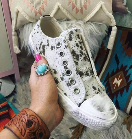 Cowhide Wildlife Sneakers
