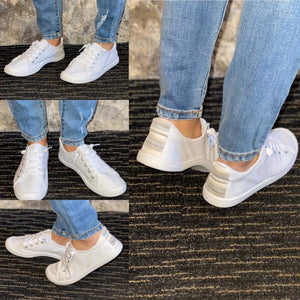 Chloe White Tennies