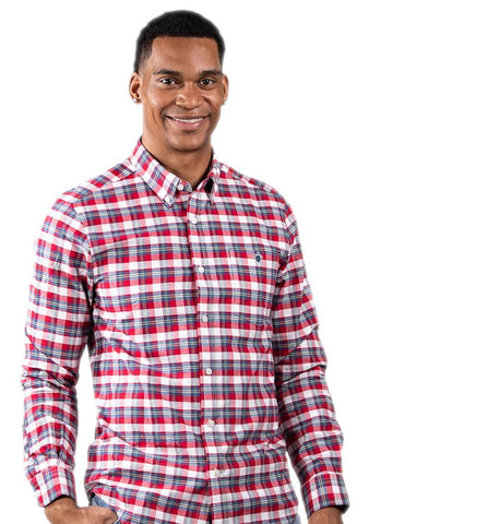Simply Southern Longsleeve Parker Oxford White Red Plaid