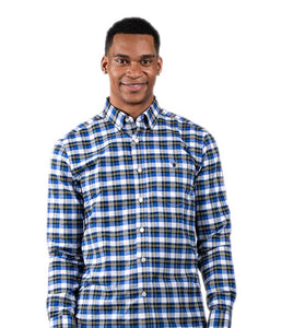 Simply Southern Longsleeve Parker Oxford Blue White Plaid