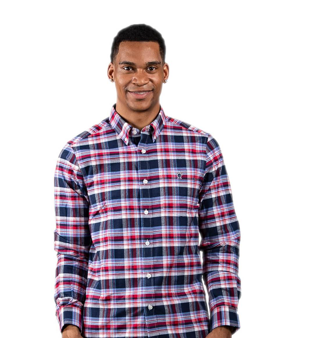 Simply Southern Longsleeve Parker Oxford Red Blue Plaid