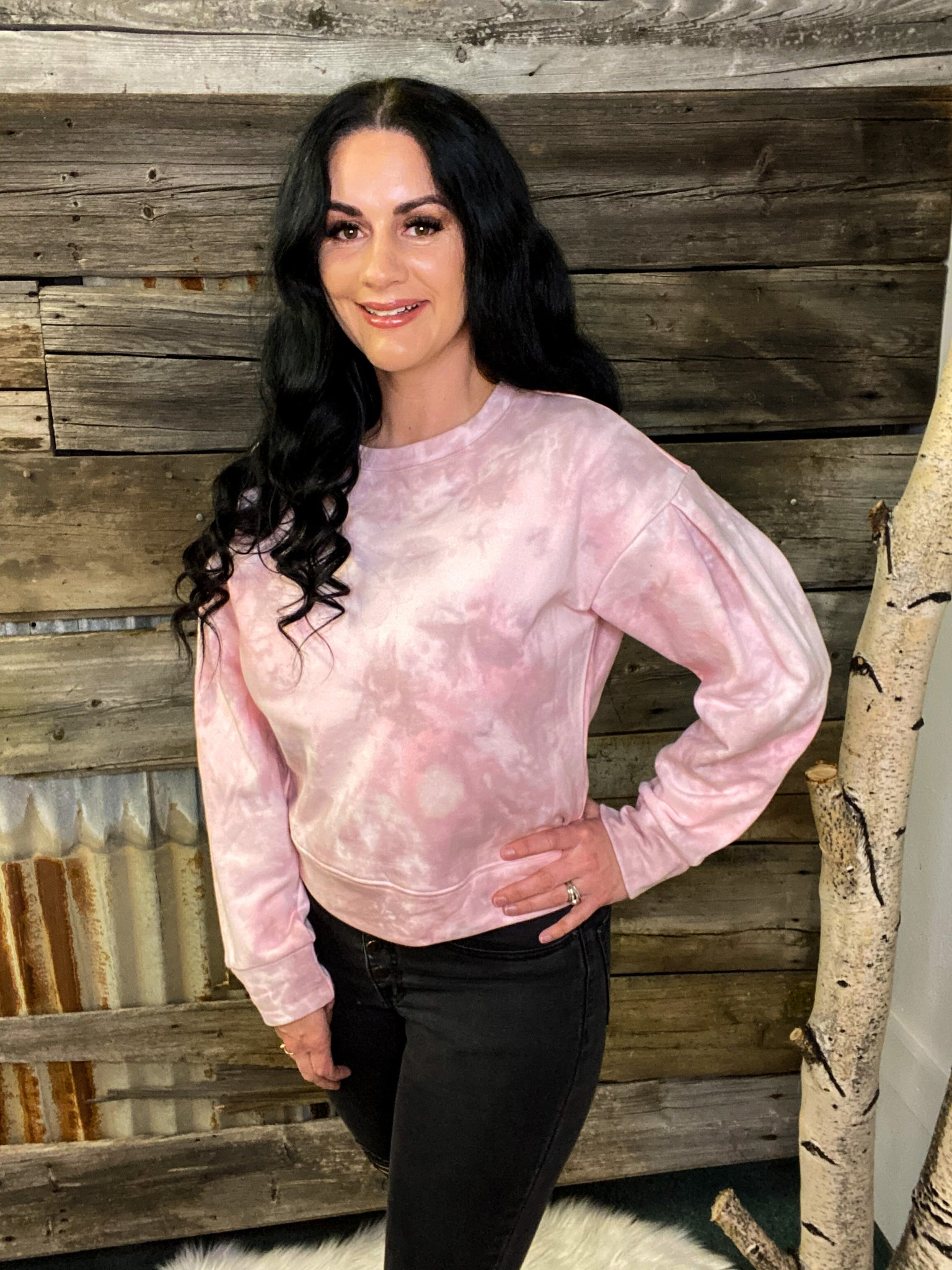 Roma Light Pink Tie Dye Sweatshirt