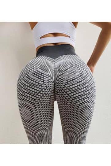 Two Tone Honeycomb Booty Lift Leggings