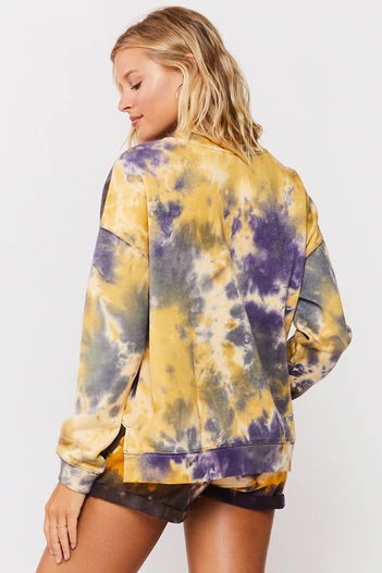 Kameron Purple & Yellow Marble Tie Dye Set