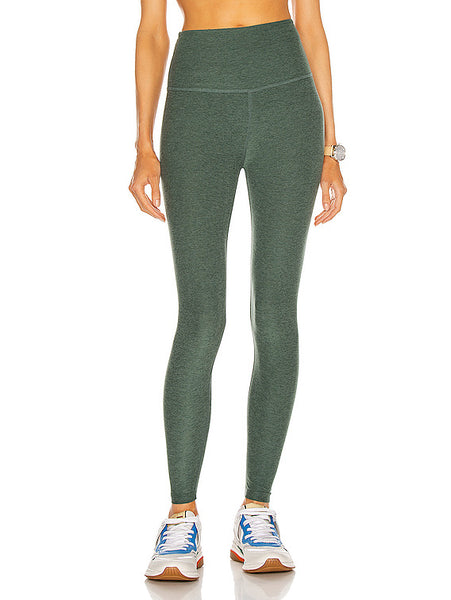 Beyond Yoga Spacedye Caught In The Midi High Waisted Legging- Green Ivy