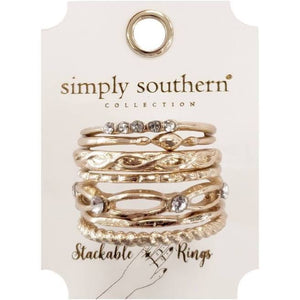 Dainty Stackable Set of 6 Rings