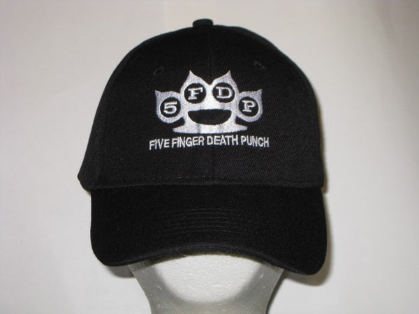 FIVE FINGER DEATH PUNCH -  Logo - EMBROIDERED Baseball Cap- Adjustable Velcro Back-Unisex