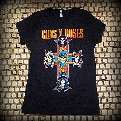 GUNS N' ROSES - Appetite for Destruction -  Girls & Ladies Cut -T- Shirt