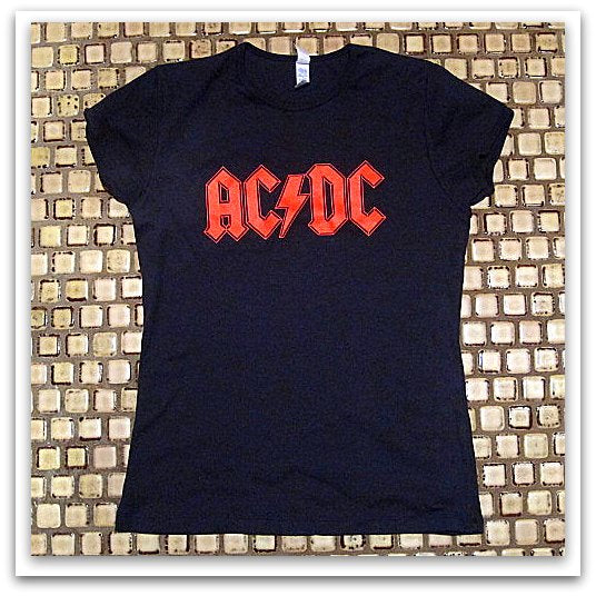 AC/DC - Logo- Girls & Ladies Cut -T- Shirt