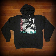 The Clash - London Calling - Two Sided Printed Vintage Hoodie