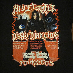 ALICE COOPER  / DIRTY DIAMONDS Tour 2005 / Two Sided Printed- T-Shirt